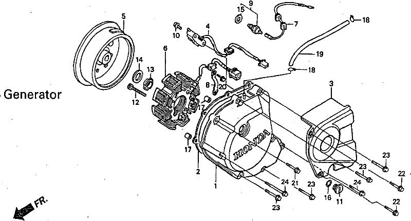 Yamaha YZF R125 Generator Stator engine crank case cover 2008 to 2013