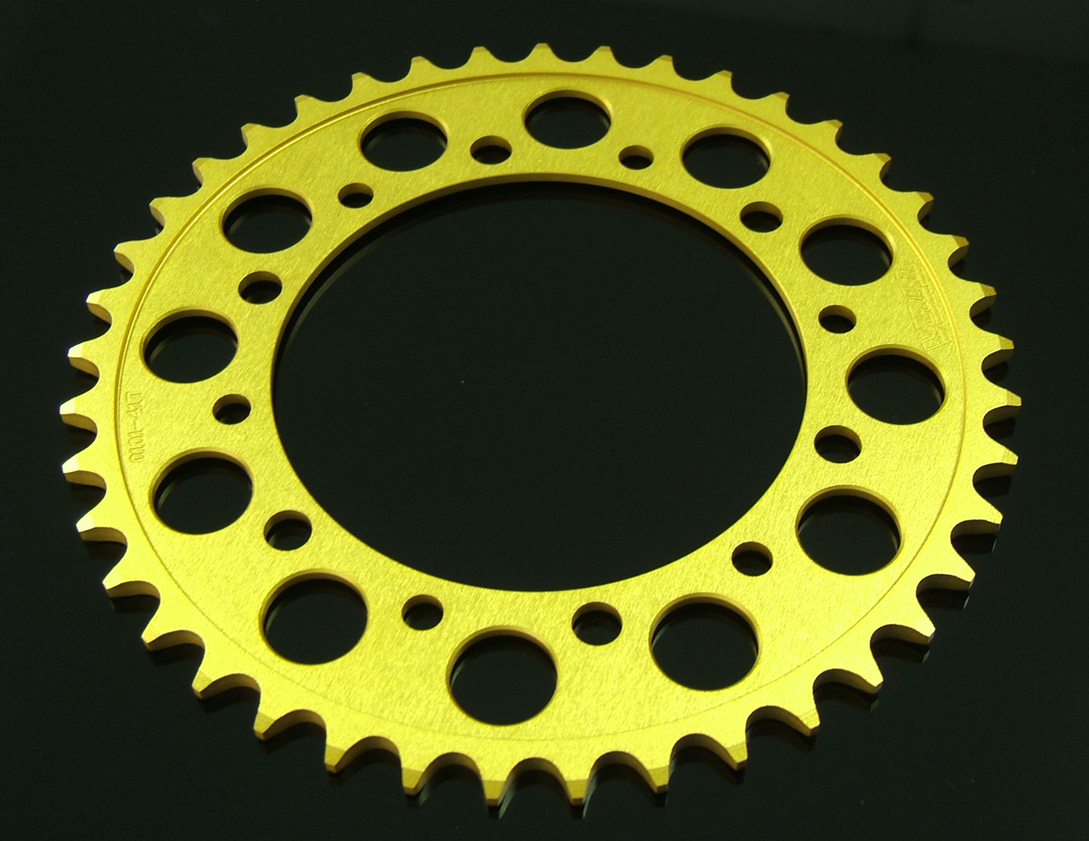 Sprocket, Rear 40T, #520, Stock, Aluminium, (Gold), MC28
