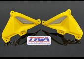 Tank Shrouds, With Duct and Grille, (Pair), (GRP), MSX125 Grom. Y-217 Queen Bee Yellow