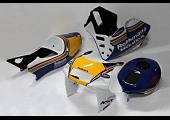 Kit, Bodywork, GRP, stock shape, with Carbon tank, NSR250 MC28, Painted Rothmans