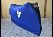 TYGA Bike Dust Cover, Blue/Black, Suzuki RGV