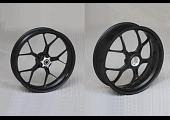 Forged Aluminium Racing wheel set, 5 spoke, PVM, Front 3.50 x 17, Rear 5.50 x 17, Satin Black