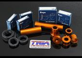 Wheel, Aluminium Spacer, Bearing, and Seal Kit, (Orange) KTM RC and Duke Series
