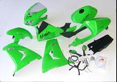 Kit, Complete Body Set (Street), ZXR250 Ninja Style, Painted Green