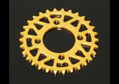 Sprocket, Rear 32T, #420, Stock, Aluminium, (Gold), KSR110