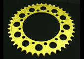 Sprocket, Rear 42T, #525, Stock, Aluminium, (Gold), NC35