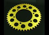 Sprocket, Rear 43T, #520, Stock, Aluminium, (Gold), Ninja 250R/300R/400