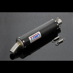 Silencer, GP-T, Carbon, Two Stroke, Spring Mounted, Assy. 1