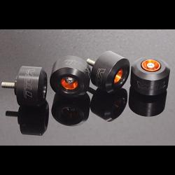 Axle Slider Kit, (Orange/Black) KTM RC and Duke Series 1