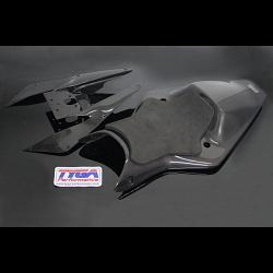 Seat Cowling Set, Street, Carbon, Cup Style, KTM RC125, RC200. RC250, RC390 1