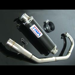 Set, Pipe, Full Race System, Round Carbon Silencer, CBR150 1