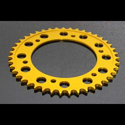 Sprocket, Rear 40T, Aluminium, (Gold)#520 Conversion 1