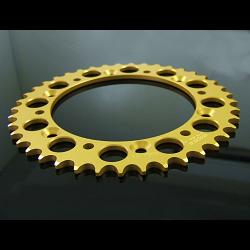 Sprocket, Rear 44T, #520, Stock,  Aluminium, (Gold), VJ21 2
