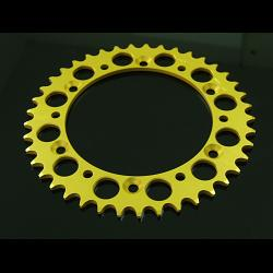 Sprocket, Rear 44T, #520, Stock,  Aluminium, (Gold), VJ21 1