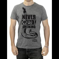Tyga T shirt, Never Quit Smoking, Grey, M 1