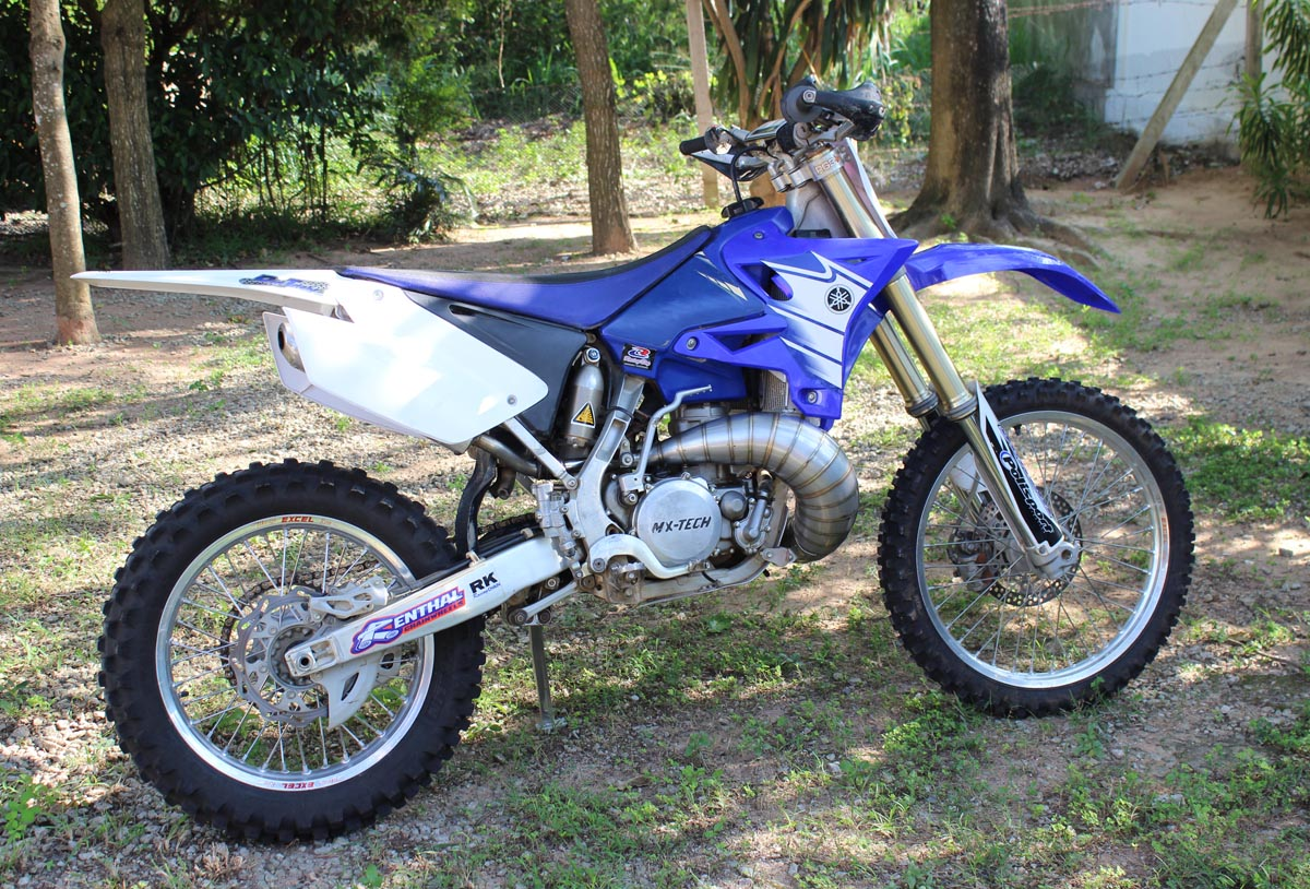 Set, Exhaust Chamber, Stainless Steel with Stainless Steel Silencer, YZ250